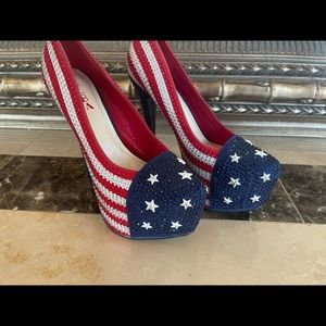 Patriotic Bejeweled Heels